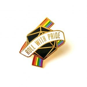 Dungeons & Dragons Roll For Pride Enamel Pin