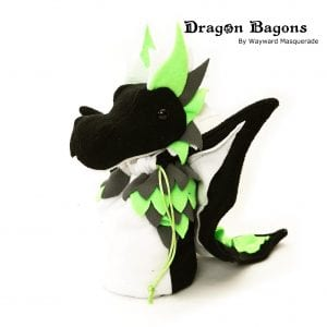 DnD Dice Bag - Agender Pride Dragon 001