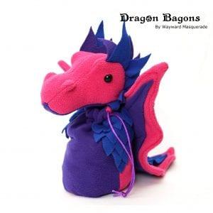 DnD Dice Bag - Bi Pride Dragon 001