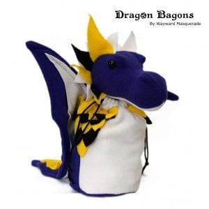 DnD Dice Bag - Non Binary Pride Dragon 001