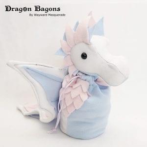 DnD Dice Bag - Pastel Trans Pride Dragon 001
