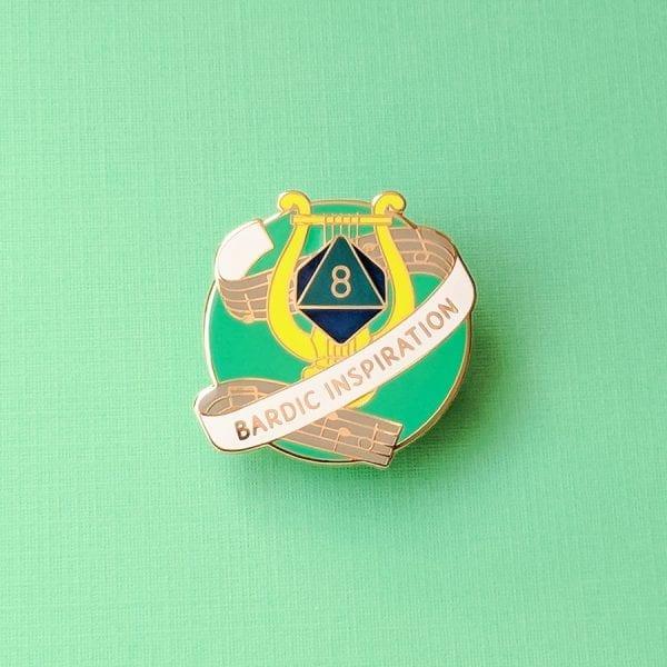 Dungeons and Dragons Bardic Inspiration Enamel Pin