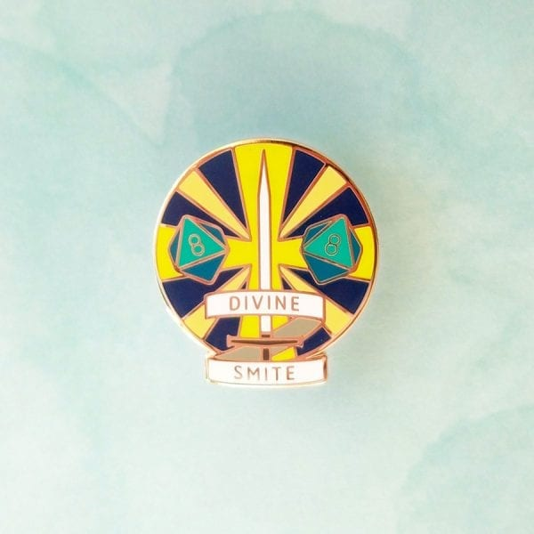 Dungeons and Dragons Paladin Divine Smite Enamel Pin