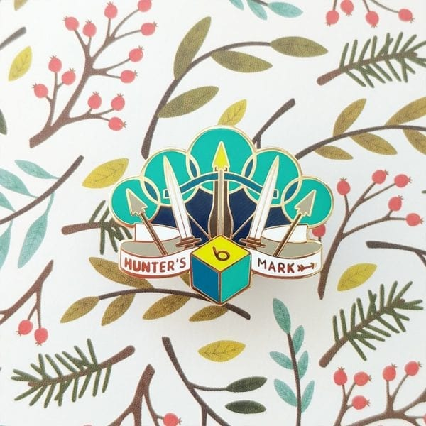 Dungeons and Dragons Ranger Hunter's Mark Enamel Pin