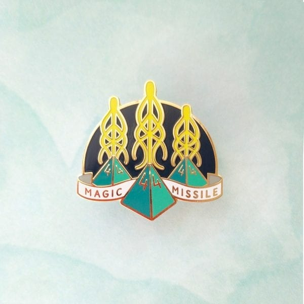 Dungeons and Dragons Wizard Magic Missile Enamel Pin