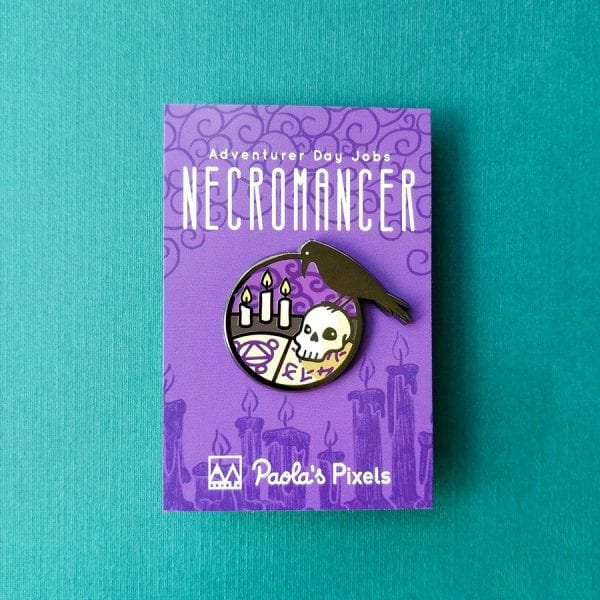 Dungeons and Dragons Necromancer Enamel Pins