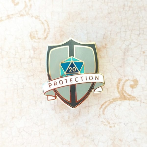 Dungeons and Dragons Fighter Protection Enamel Pin