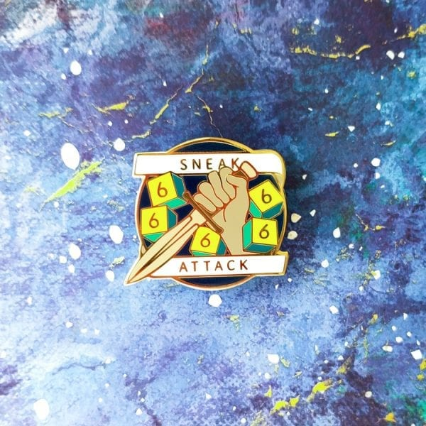 Dungeons and Dragons Rogue Sneak Attack Enamel Pin