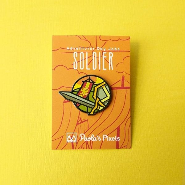 Dungeons and Dragons Soldier Enamel Pins