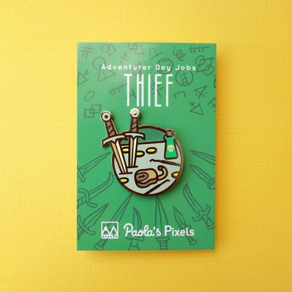 Dungeons and Dragons Thief Enamel Pins