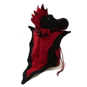 DnD Dice Bags - Dragon Black & Red 003