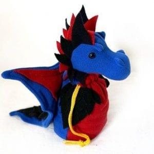 DnD Dice Bag - Polyamorous Pride Dragon 002