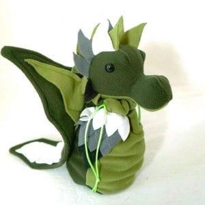 DnD Dice Bag - Aromantic Pride Dragon 002